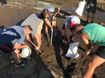 釜石鵜住居復興スタジアムの試合が中止になったカナダ代表がボランティア活動